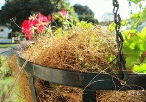 подвесная корзина для цветов как сделать фото