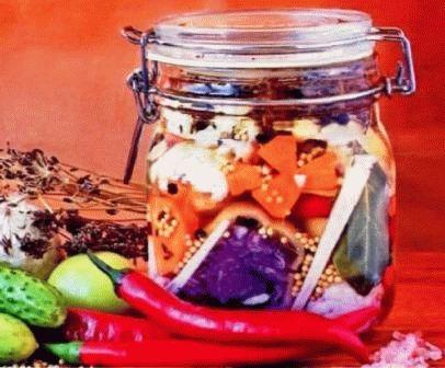 Салат ассорти на зиму Летнее настроение фото