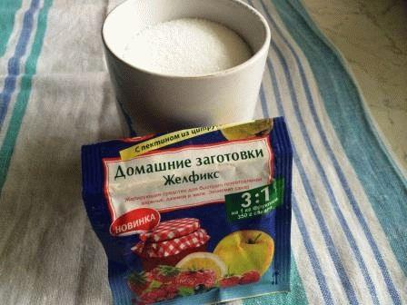 Сахар смешать с Желфикс
