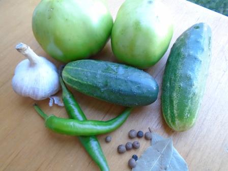 замариновать зеленые помидоры