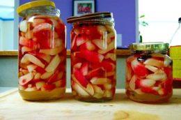 Консервированный редис на зиму, рецепт салата